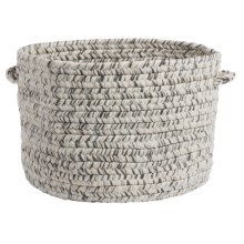 "Colonial Mills Textured-Tweed Storage Basket - 14x10"" in Silver Ash - Closeouts"