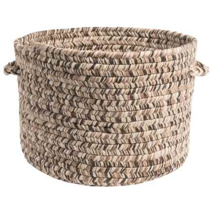 "Colonial Mills Textured-Tweed Storage Basket - 14x10"" in Weathered Brown - Closeouts"