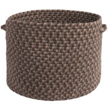 "Colonial Mills Tiburon Storage Basket - 18x12"" in Dockside Brown - Closeouts"