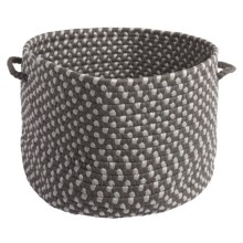"Colonial Mills Tiburon Storage Basket - 18x12"" in Misted Gray - Closeouts"