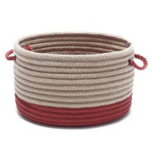 "Colonial Mills Tip-Top Medium Storage Basket - 13x13x9"" in Red - Overstock"