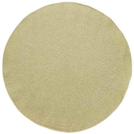 Colonial Mills Twisted Check Round Rug - 7' in Shaded Yellow - Closeouts