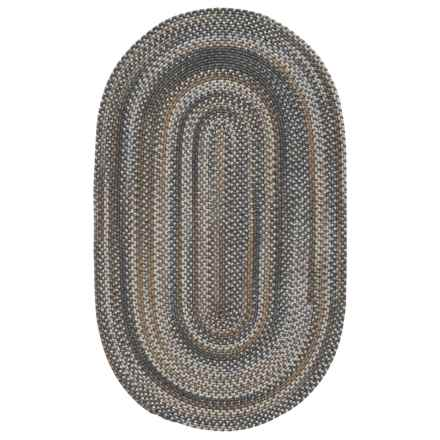 Colonial Mills Warren Braided Rug - 3x5' in Greystone - Closeouts