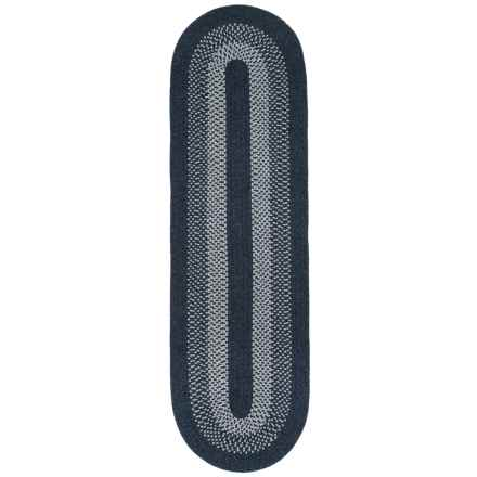 Colonial Mills Wickford Blend Oval Floor Runner - 2x7', Wool Blend in Navy - Closeouts