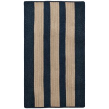 "Colonial Mills Wool-Blend Accent Rug - 27x46"", Vertical Stripe in Navy - Overstock"