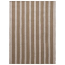 Colonial Mills Wool-Blend Area Rug - 5x7', Vertical Stripe in Natural - Overstock
