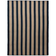 Colonial Mills Wool-Blend Area Rug - 5x7', Vertical Stripe in Navy - Overstock