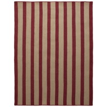 Colonial Mills Wool-Blend Area Rug - 5x7', Vertical Stripe in Red - Overstock