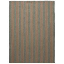 Colonial Mills Wool-Blend Area Rug - 8x10', Vertical Stripe in Green - Overstock