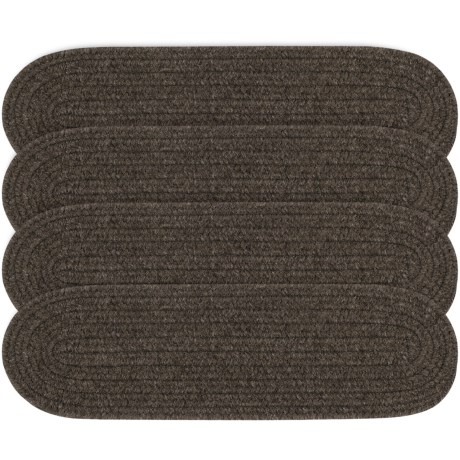 "Colonial Mills Wool Blend Stair Treads - Set of 4, 8x28"" in Grey"