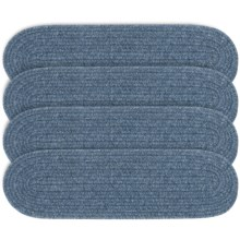 "Colonial Mills Wool Blend Stair Treads - Set of 4, 8x28"" in China Blue - Overstock"