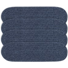 Colonial Mills Wool Blend Stair Treads - Set of 4, 8x28 in Blue Moon - Overstock