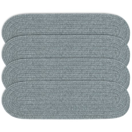 Colonial Mills Wool Blend Stair Treads - Set of 4, 8x28 in Graystone