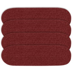 Colonial Mills Wool Blend Stair Treads - Set of 4, 8x28 in Holly Berry