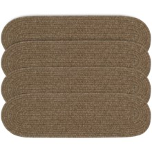 Colonial Mills Wool Blend Stair Treads - Set of 4, 8x28 in Natural Earth - Overstock