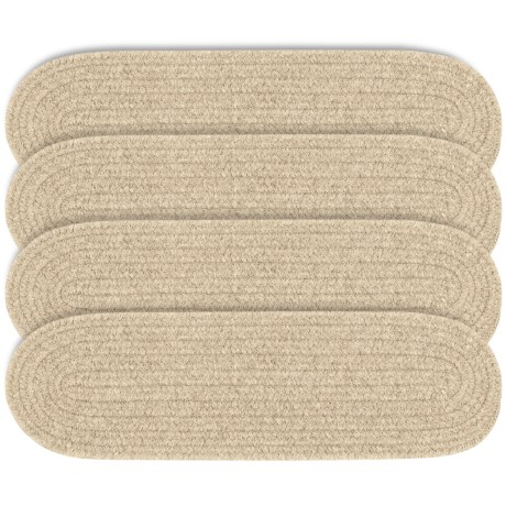 Colonial Mills Wool Blend Stair Treads - Set of 4, 8x28 in Bark