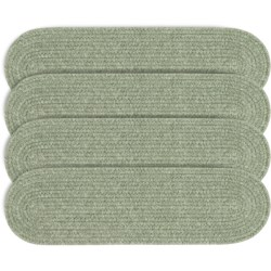 Colonial Mills Wool Blend Stair Treads - Set of 4, 8x28 in Palm