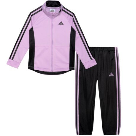 Image of Color-Block Tricot Track Jacket and Pants Set (For Toddler Girls)