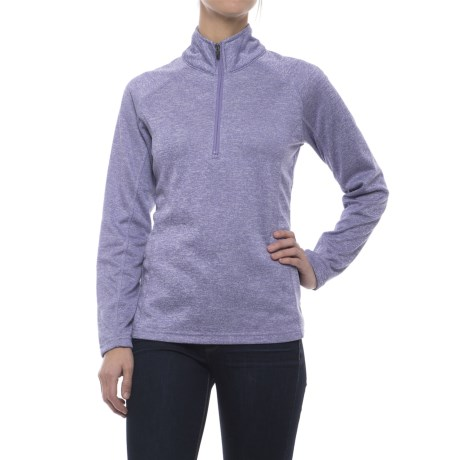 Colorado Clothing Agate Fleece Shirt - Zip Neck, Long Sleeve (For Women) in Aster