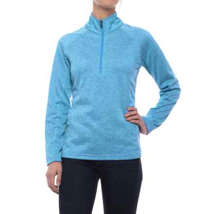 Colorado Clothing Agate Fleece Shirt - Zip Neck, Long Sleeve (For Women) in Bright Blue - Closeouts