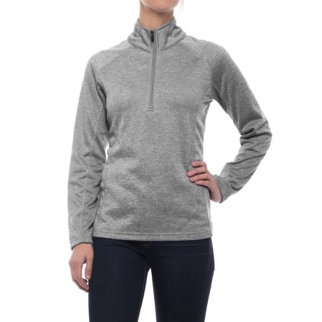 Colorado Clothing Agate Fleece Shirt - Zip Neck, Long Sleeve (For Women) in Storm