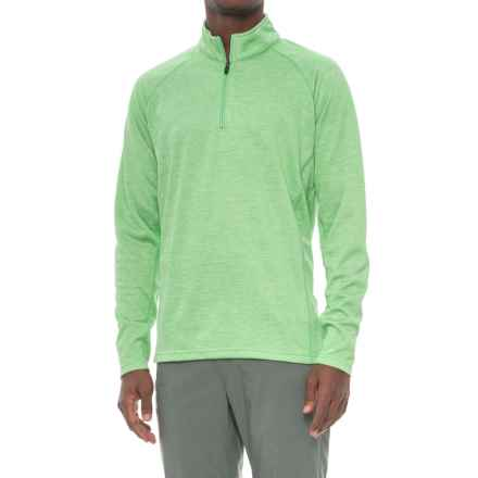 Colorado Clothing Agate Shirt - Zip Neck, Long Sleeve (For Men) in Bright Green - Closeouts