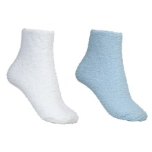 Colorado Clothing Chenille Solid Ankle Socks - 2-Pack (For Women) in Aquamarine/White - Closeouts