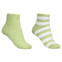 Colorado Clothing Chenille Solid/Stripe Ankle Socks - 2-Pack (For Women) in Mint/White - Closeouts