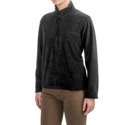Colorado Clothing Fleece Jacket- Zip Neck, Long Sleeve (For Women) in Black - Closeouts