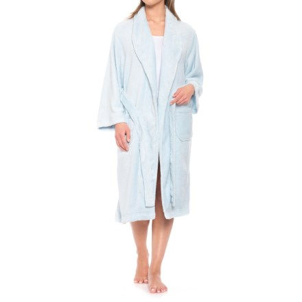 6c20667047 Colorado Clothing Fleece Spa Robe - Long Sleeve (For Women) in Spa Blue -