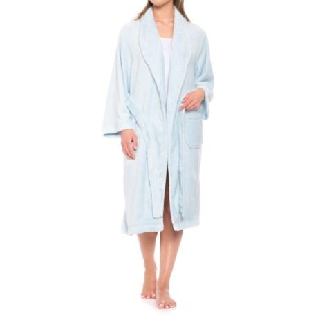 Colorado Clothing Fleece Spa Robe - Long Sleeve (For Women) in Spa Blue 1c0b6b9ce