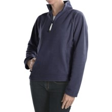 Colorado Clothing Microfleece Pullover - Heavyweight, Zip Neck  (For Women) in Navy - Closeouts