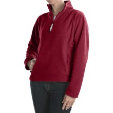 Colorado Clothing Microfleece Pullover - Heavyweight, Zip Neck  (For Women) in Tomato - Closeouts