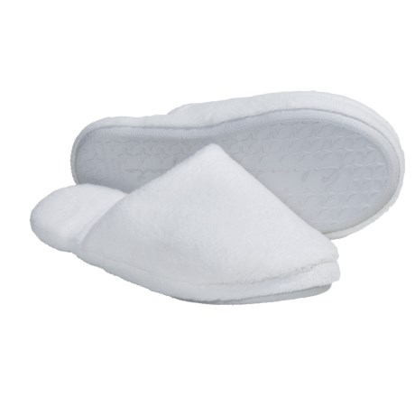 Colorado Clothing Plush Fleece Slippers (For Women) in White