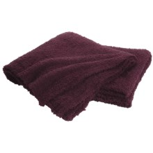 "Colorado Clothing Shaggy Chic Chenille Throw Blanket- 60x70"" in Vino - Closeouts"