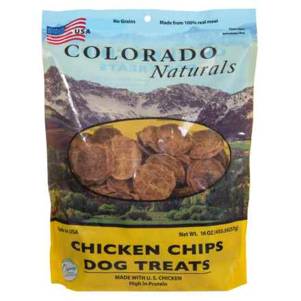 Colorado Naturals Chicken Chips Dog Treats - 16 oz. in Chicken Chips - Closeouts
