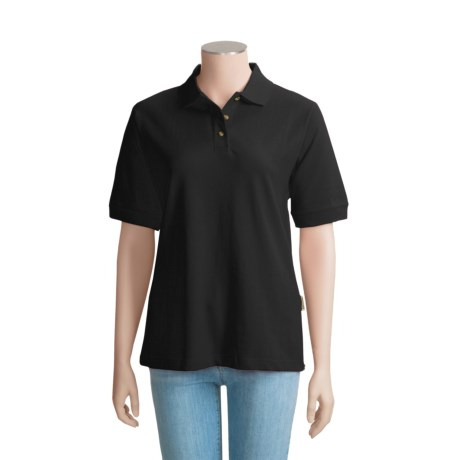 Colorado Timberline Cambridge Polo Shirt - Short Sleeve (For Women) in Black