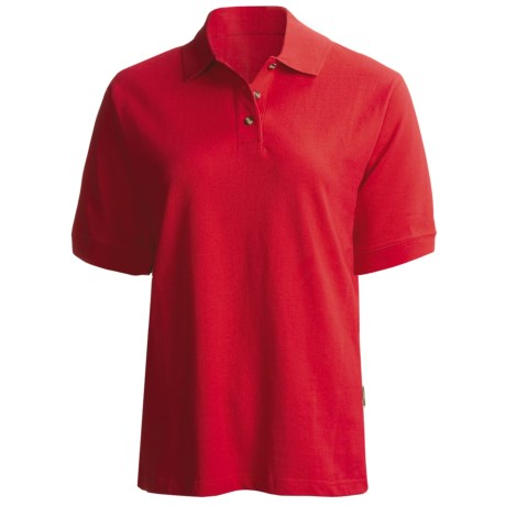 Colorado Timberline Cambridge Polo Shirt - Short Sleeve (For Women) in Red
