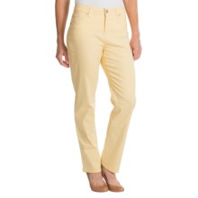 Colored Jeans - Straight Leg (For Women) in Banana - 2nds