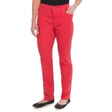 Colored Jeans - Straight Leg (For Women) in Coral - 2nds