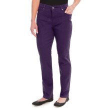 Colored Jeans - Straight Leg (For Women) in Purple - 2nds
