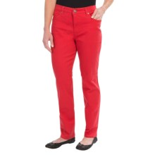Colored Jeans - Straight Leg (For Women) in Red - 2nds