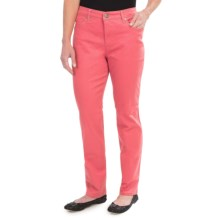 Colored Jeans - Straight Leg (For Women) in Salmon - 2nds