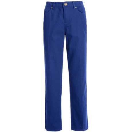 Colored Pants - Stretch Cotton, Straight Leg (For Women) in Royal
