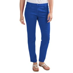 Colored Skinny Jeans - Stretch Cotton (For Women) in Blue