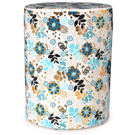 Image of Colorful Flower Ceramic Garden Stool - 18?