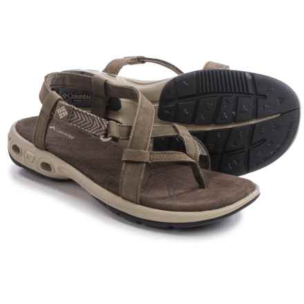 Columbia Sportswear Abaco Vent Sandals - Nubuck (For Women) in Mud/Silver Sage - Closeouts
