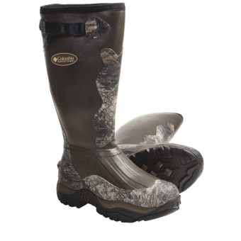 Columbia Sportswear Adrenaline Hunter Rubber Hunting Boots - Waterproof, Insulated (For Men) in Brown/Mossy Oak Break Up