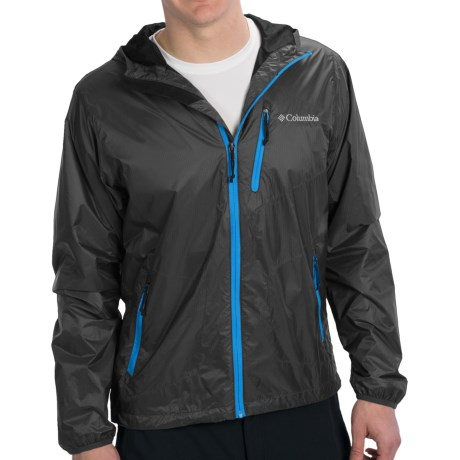 Columbia Sportswear Agent Air EXS Wind Shell Jacket (For Men) in Black/Compass Blue