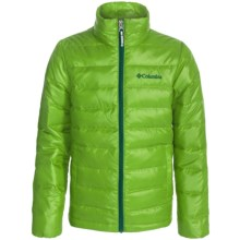 Columbia Sportswear Airspace Down Jacket (For Little and Big Kids) in Cyber Green - Closeouts